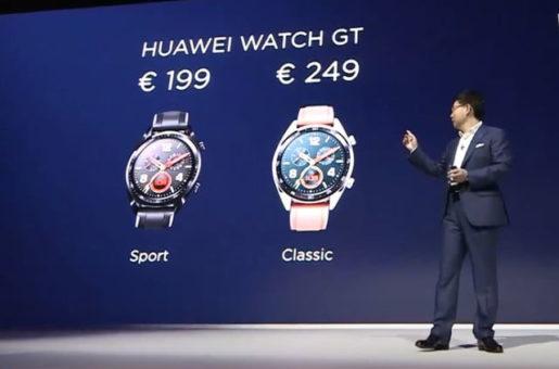 Huawei Watch GT Sport 199€ o Classic 249€.