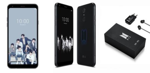 LG serie Q7 Edición BTS