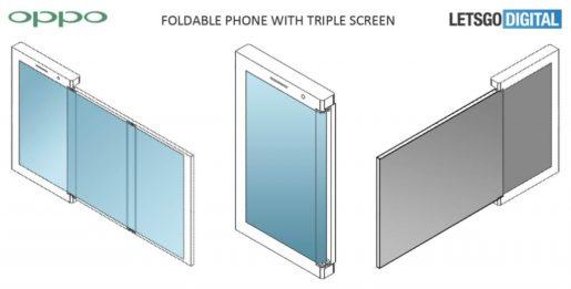 Oppo plegable con tres pantalla.